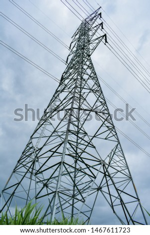high voltage pole, high voltage pole from Thailand country #1467611723