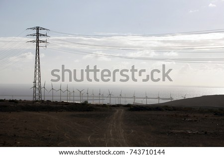 high-voltage power lines,electricity transmission pylon #743710144
