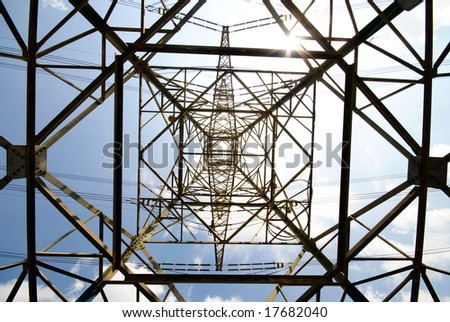 High voltage power pylon