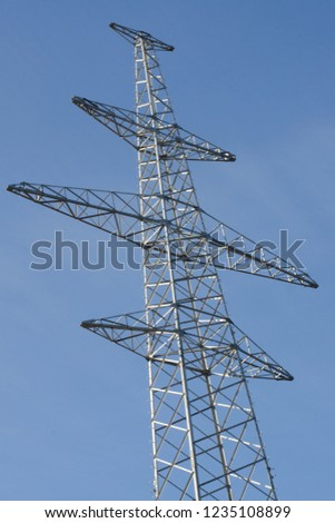 High voltage powerline. Line support construction #1235108899