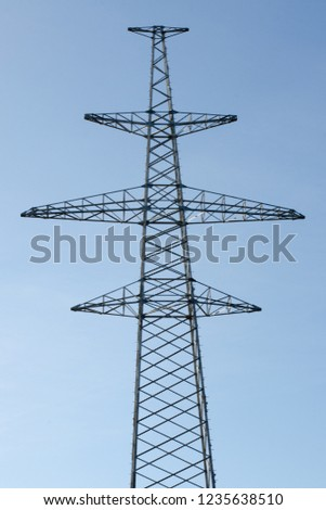 High voltage powerline. Line support construction #1235638510