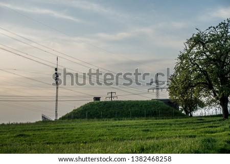 High voltage pylons and transmission pylons #1382468258