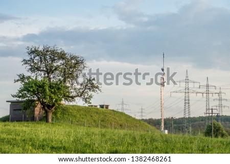 High voltage pylons and transmission pylons #1382468261