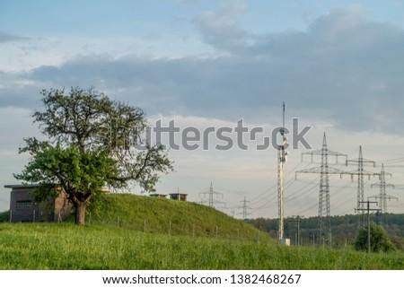 High voltage pylons and transmission pylons #1382468267
