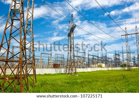 High Voltage Substation  in the sky