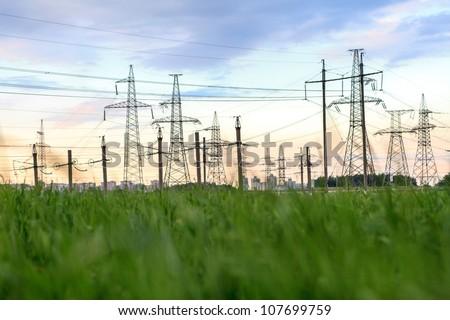 High-voltage tower