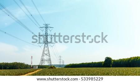 High voltage tower #533985229