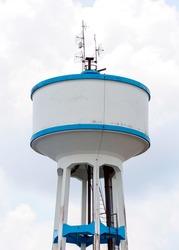 High water tank of urban waterworks in Thailand.