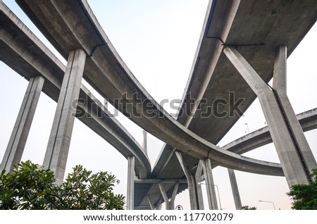 High way from under