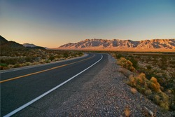 High way in landscape of Nevada. USA