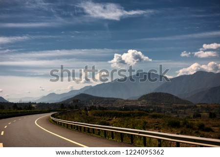 High way in Sichuan - China has the most robust high way network in the world #1224095362