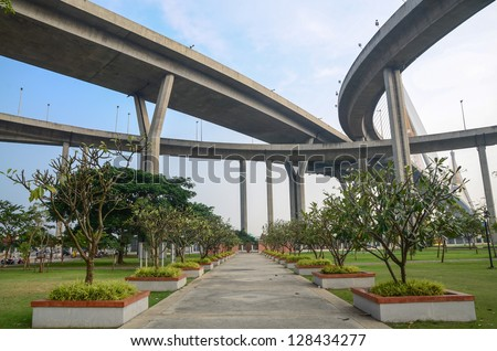 High way over park