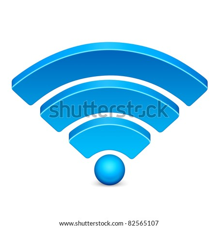 High wireless signal icon in red on isolated white background. 3D render image and part of icon series.