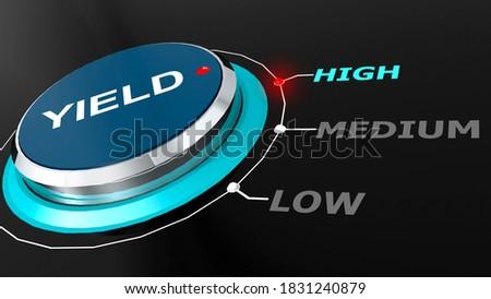 High yield return on the knob, 3d rendering Foto stock ©