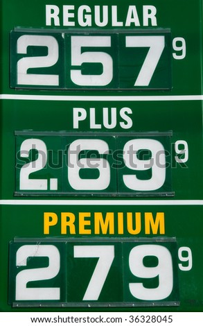 Higher Price Gas Station Sign USA