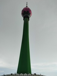 Highest tower of Southasia. It is s very beautiful. This tower is called 'Lotus Tower'. Situated in Sri Lanka.