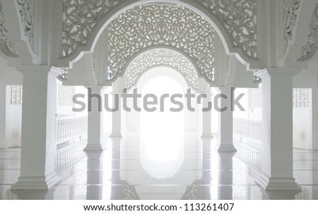 Highkey image of a beautiful intricate pattern