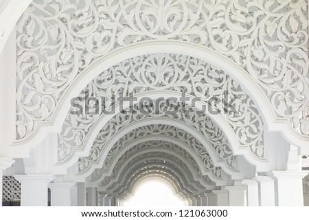 Highkey image of a beautiful intricate pattern - stock photo