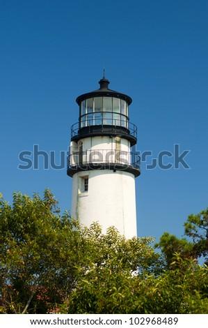 Highland Light Lighthouse in North Truro, Cape Cod, Maine, New England, USA, Highland Light Leuchtturm in Nord Truro, Cape Cod, Maine, Neu England, USA