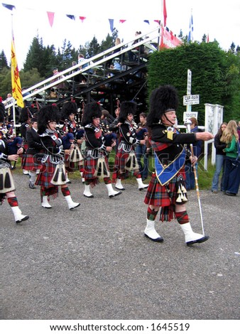 Highlander Pipers marching band