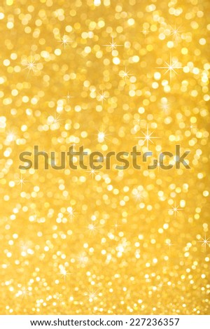 highlighted golden sparkle background for Christmas