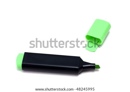 Highlighter isolated on white background
