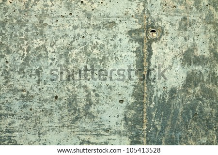 Highly abnormal structure of the concrete structure due to moisture - stock photo