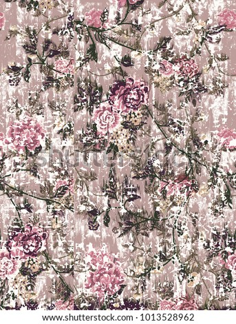 Highly detailed abstract, grunge, vintage  pastel background. For art texture, design, paper or border frame, modern floral red and pink rose pattern for carpet, rug,  scarf, clipboard , shawl pattern
