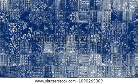 Highly detailed abstract texture or grunge background. For art texture, grunge checks design, and vintage paper or border frame, modern damask pattern for carpet, rug, scarf, clipboard , shawl pattern