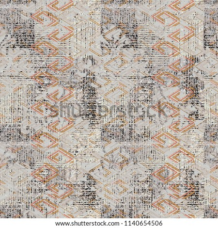 Highly detailed abstract texture or grunge background. For art texture, grunge design, vintage paper or border frame, Trendy and modern ethnic  pattern for carpet, rug, scarf, fashion cover , fabric