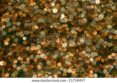 highly detailed background of coins