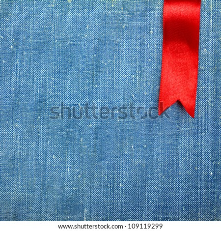 Highly detailed fabric texture with ribbon