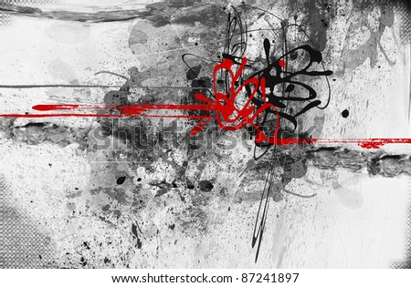 Highly detailed grunge abstract textured collage with space for your text