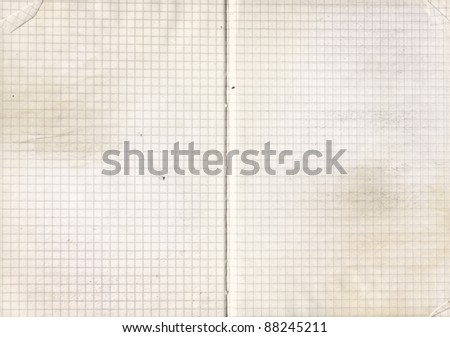 Highly detailed grunge weathered  notebook  paper. Great grunge background for your projects.