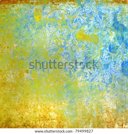 highly detailed image of grunge vintage wallpaper