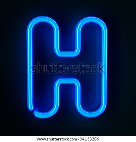 Highly detailed neon sign with the letter H
