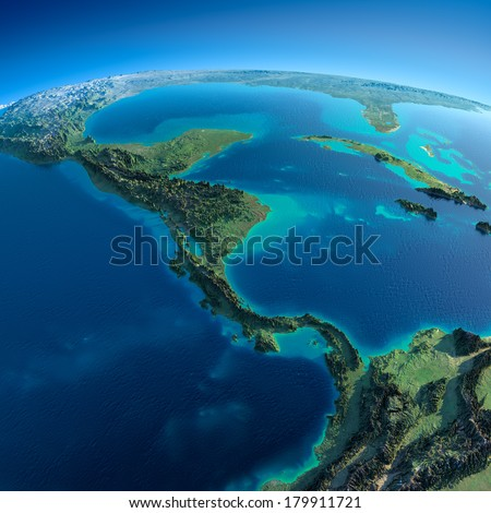 highly detailed planet earth in ...