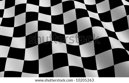 Highly detailed race flag with fabric texture