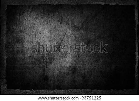highly Detailed textured grunge background frame with space for your projects - Shutterstock ID 93751225