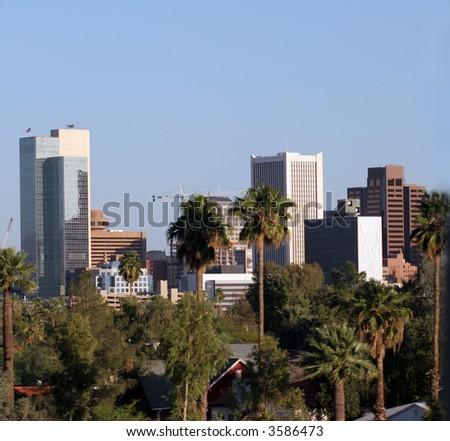 Highrise Buildings in Downtown of Phoenix, AZ