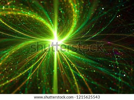 Hight Energy Hadron Collision Quantum Physics Concept  - Subatomic Particle Fission - Quantum Jump, Entanglement, Tunelling Effect