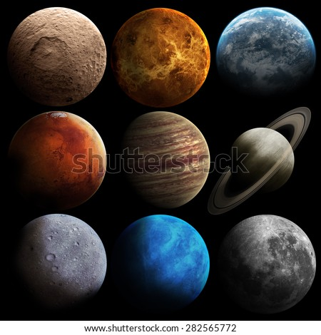 Hight quality solar system planets. Elements of this image furnished by NASA #282565772