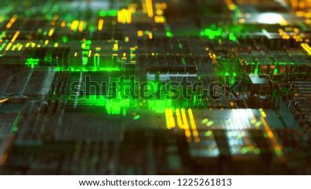Hightech Background (3D Rendering)