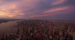 highup panorama sunset nyc
