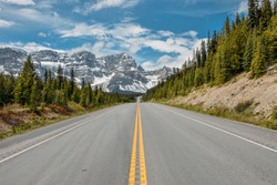 Highway 1A, Canadian Rocky Mountains, Alberta, Canada
