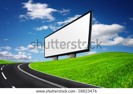 Highway and empty billboard