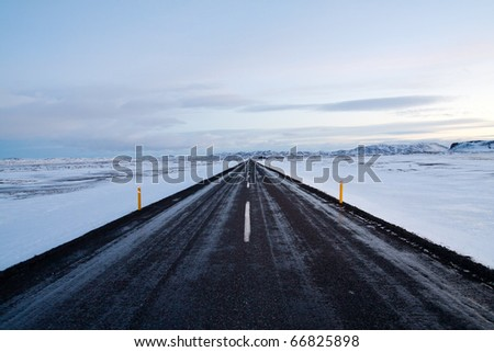 Highway around Iceland