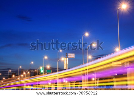 Highway Night Lights