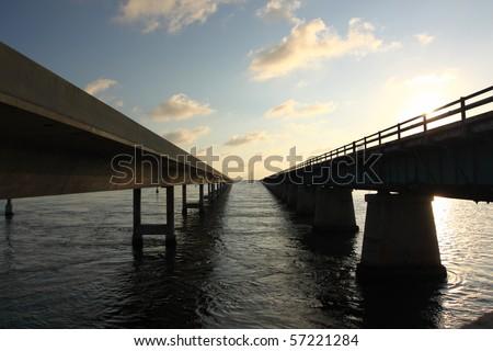 Highway bridge over Florida Keys