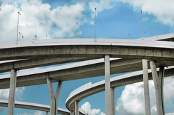 Highway Bridge with sky background